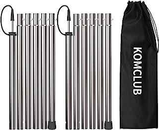 KOMCLUB 野营帐篷杆*加厚可折叠杆,适用于篷布收容所遮阳篷雨飞 94.5 英寸 - 2 件套