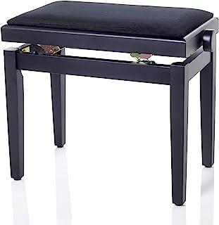 Bespeco SG101BSVN 钢琴长椅由木制成,黑色缎面和黑色天鹅绒