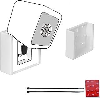 Arthon 无螺丝胶粘拉链相机支架 - 兼容 Wyze v3(不含相机) - VHB 双面胶带无钻孔(v3,1 个安装)