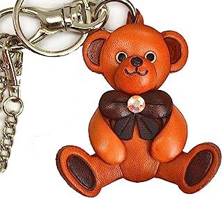 泰迪熊真皮包饰品/钥匙扣 VANCA 日本手工制作