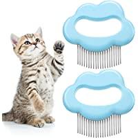 2 件猫梳宠物毛发脱落刷猫毛发按摩梳按摩梳宠物脱落去除器工具适用于猫猫(云形)
