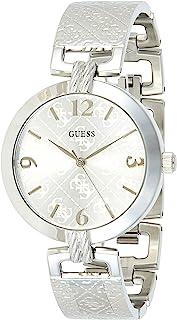 Guess g Luxe 女式模拟石英手表不锈钢表链 W1228L1