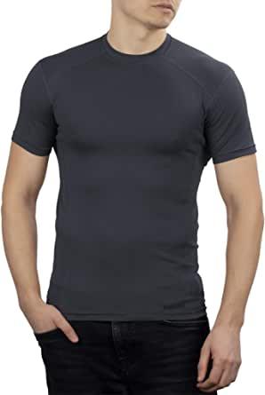 281Z 男式战术吸湿排汗 T 恤 - 徒步训练户外 - 活跃运动锻炼 - Polartec Delta(石墨色)