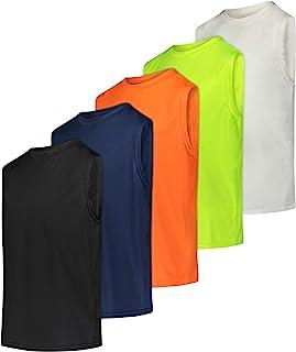 5 件装:男孩速干运动性能背心