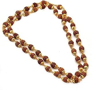 Rudraksh Chain shiva 60.96 cm 单线手工镀金*低费率珠宝 6587