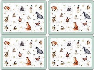 Wrendale Designs 40.1 x 29.8厘米大号餐垫,4件套,多色