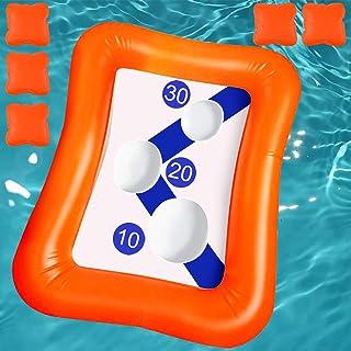Kyerivs 充气泳池浮动投掷游戏玩具泳池浮动豆袋投掷游戏儿童成人家庭夏季泳池玩具多人水上乐趣户外游戏沙滩派对玩具