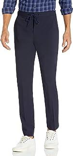 Perry Ellis 男式修身弹力纯色拉绳长裤