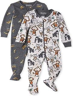 The Children's Place 婴幼儿男孩猴子舒适贴身棉质连体睡衣 2 件装