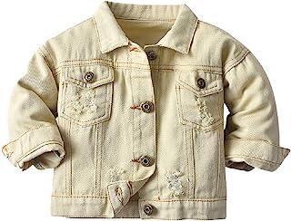 Cromoncent 男孩牛仔夹克系扣外套