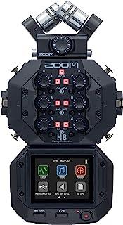 ZOOM H8 12声道便携式录音机 立体声麦克风 USB音频接口 电池供电 可用于视频、播客和音乐的立体声/多声道音频