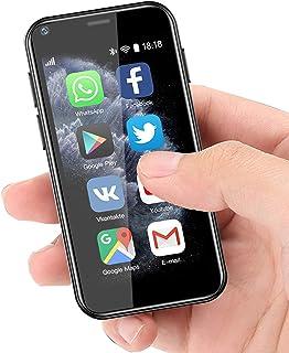 超小型迷你智能手机 3G 双 SIM 手机 1GB RAM 8GB ROM 双 SIM Android 6.0 解锁儿童手机口袋手机(黑色)