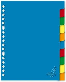 索引卡 Kangaro A5 空白PP 120 微米 17r.10 件分类标签纸板15 件。