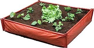 Haxnicks Planter230101 1 x 1 米即时增高床庭院花盆,红色,100 x 100 x 25 厘米