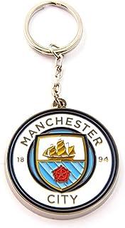Manchester City FC Official Metal Football Crest Keyring