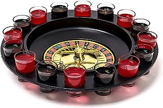 Relaxdays 饮水游戏路线带16架架射镜30x30厘米,赌博游戏派对乐趣*低2位玩家赌场,礼品创意,情侣游戏,黑色-红色