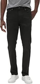 Banana Republic 男式 532511 修身弹力棉质牛仔裤,黑色