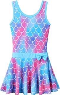 BAOHULU 女童泳装连体式可爱花纹连衣裙泳衣 3-8 岁