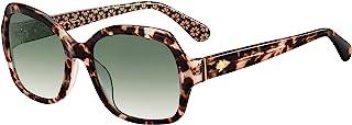 Amberlynn/S 0MAP/9K 57MM 哈瓦那图案粉色/*阴影方形太阳镜 + 免费赠送眼镜套装