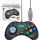 Retro-Bit 官方 Sega Saturn USB 控制器垫(型号 2)适用于 Sega Genesis Mini…
