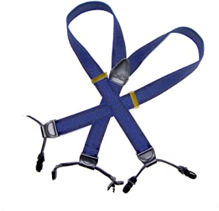 Hold-Ups 靛蓝双扣背带,采用色调提花编织,Y 形背部