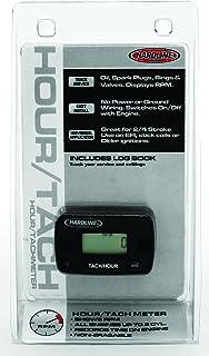 Hardline Products HR-8061-2 小时计/转速表,适用于*多 2 缸发动机,黑色