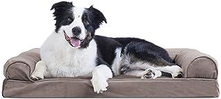 Furhaven 宠物狗床 | *性沙发风格传统客厅沙发宠物床 w/ 狗和猫咪可拆卸罩 - 多种颜色和款式可选 Velvet Driftwood Brown 大