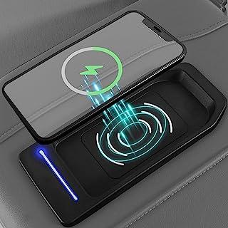 Xipoo Fit 雪佛兰 Silverado GMC Sierra 无线充电器充电托盘中心控制台充电 15W 无线充电板适用于 2019-2021 雪佛兰 Silverado GMC Sierra 1500 2500HD 3500HD 配件
