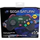 Retro-Bit 官方SEGA Saturn 2.4Ghz无线Arcade Pad手柄,适用于MEGA DRIVE M…