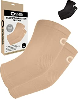 护肘压缩套(1 双) - 即时臂支撑肘套,适用于*、*、饱嗝*、高尔夫球员和网球肘支撑、*、锻炼、举重、缓解*、恢复