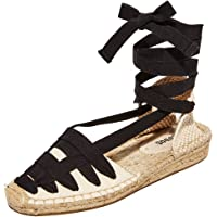 Soludos 女士 Laced Demi 坡跟平底鞋