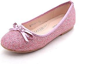 Mila 女童休闲舒适闪光芭蕾舞平底鞋(Esther-1)