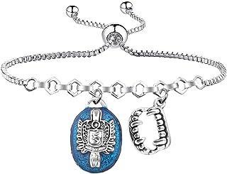 HOLLP 吸血鬼日记灵感珠宝Damon Salvatore D S 手镯万圣节珠宝礼物吸血鬼日记电视粉丝
