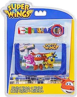 Super Wings 儿童数字手表和钱包套装零钱袋,25 厘米,多色