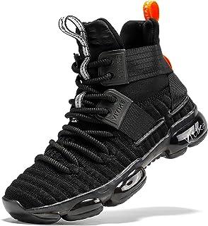 VITUOFLY 儿童篮球鞋男孩气垫运动鞋女孩中帮学校训练鞋防滑户外运动鞋舒适男孩跑步鞋耐用小童