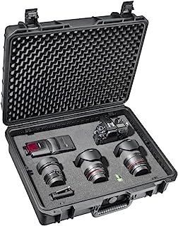 Mantona 户外摄影保护箱 L(适合 DSLR相机、GoPro 动作摄像机、照片设备等,尺寸L,防水,防震,防尘)黑色18509 Case L - black Large 黑色