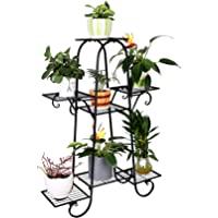 7 层金属植物架室内锻铁植物支架户外多层盆栽花架露台花园,尺寸:66 x 22 x 102 厘米
