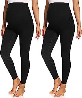 Foucome 女式孕妇打底裤腹部孕妇瑜伽裤运动打底裤