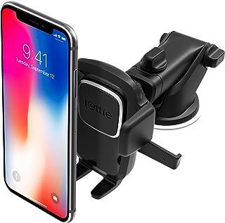 iottie EASY ONE TOUCH 4 儀表盤和擋風玻璃汽車手機支撐支架,適用于 iPhone X 8?PLUS 7?6S SE SAMSUNG 三星 GALAXY S9?S8 Edge S7?S6?Note 8?& 其他智能手機