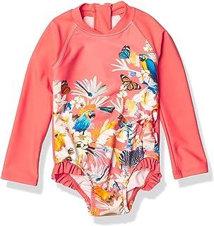 Seafolly 女童长袖连体泳衣,前拉链