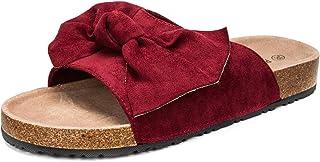 COASIS 女式 Slides 凉鞋,蝴蝶结软木鞋垫一脚蹬休闲凉鞋