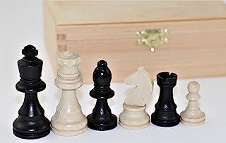 山毛榉制成的象棋,KH 74 毫米,装在木箱中