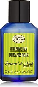 The Art of Shaving After-Shave Balm 男士面部保湿霜,适用于敏感肌肤,佛手柑和橙花,3.3盎司,100毫升