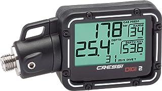 Cressi 潜水压力计和深度计 - 易于阅读和携带 - 数字 2:意大利设计