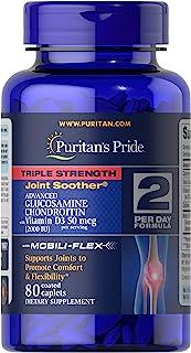 Puritan's Pride Triple Strength Glucosamine Chondroitin with Vitamin D3 and Boswellia Serrata Extract, 2,000IU per serving...