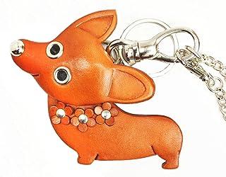 Welsh Corgi 真皮动物/狗包挂件/钥匙链 VANCA 日本手工制作