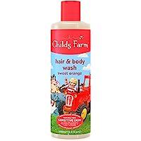 Childs Farm 洗发沐浴露,甜橙味,500毫升,16.9盎司(约479.11克)