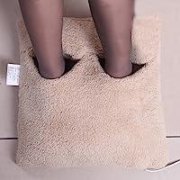 爱贝斯 暖脚宝 电暖鞋 电热鞋 插电加热坐垫 电热垫 电暖袋暖脚垫 卡其色