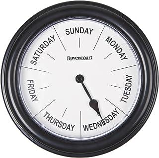 Ravencourt Days of The Week 时钟,21 厘米,黑色,218 克
