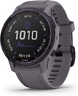 GARMIN 佳明 fenix 6s Pro Solar 小号太阳能多功能运动 GPS 手表,高级训练功能和数据,紫水晶钢